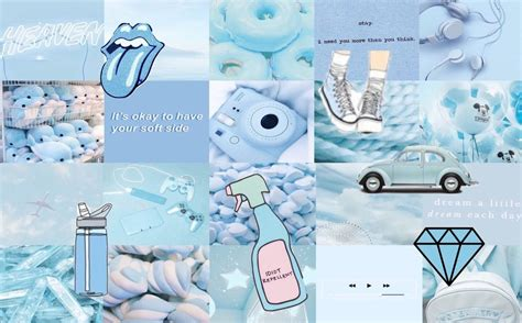 free alatoire a light blue collage i made