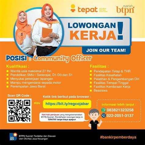 Loker loker sgs smartfren pt trimitra putra mandiri tasikmalaya desember 2020 Link Pendaftaran Online Loker BTPN Syariah Penempatan Jawa ...
