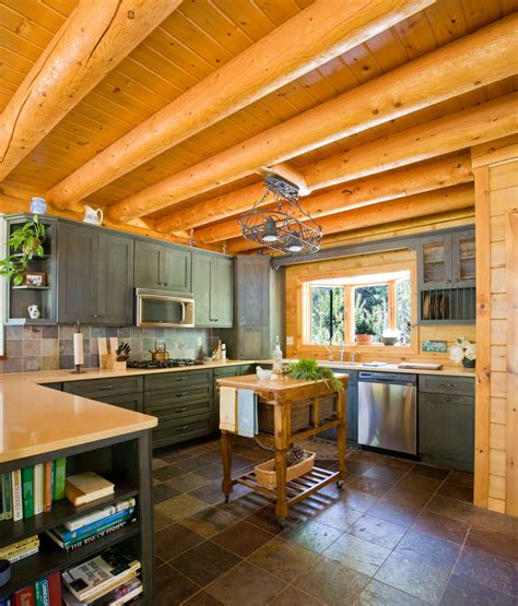 cabin style kitchen cabinets cabin kitchen cabinets kitchen traditional with bow window