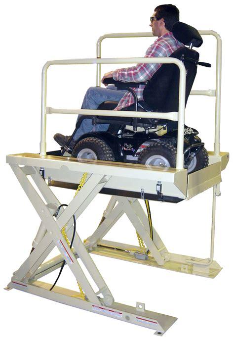 wheelchair assistance custom hydraulic wheelchair lifts
