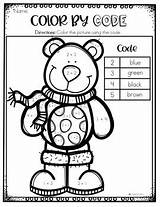 Winter Coloring Kindergarten Code Pages Number Sight Word January sketch template