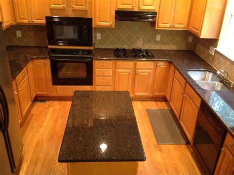 brown countertops traditional kitchen atlanta