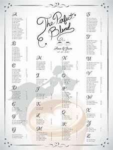 Diy printable wedding or bridal shower single seating for Bridal shower seating chart template