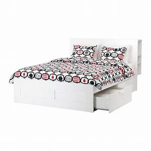 Ikea Lit 180x200 : brimnes cadre de lit rangement t te de lit blanc 140 x 200 cm pinterest lit rangement lit ~ Teatrodelosmanantiales.com Idées de Décoration