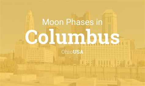moon phases  lunar calendar  columbus ohio usa