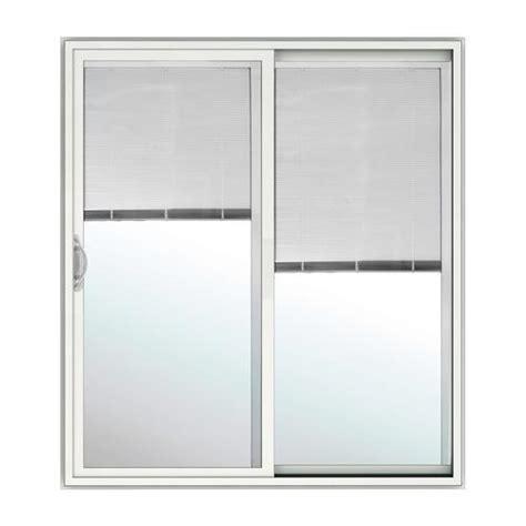 jeld wen sliding patio doors menards jeld wen 174 builders series blinds between the glass 60 quot x