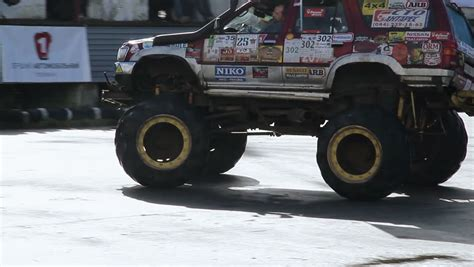 bigfoot monster truck driver kiev ukraine september 29 2013 bigfoot crash show