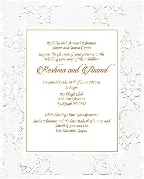 wedding invitation card template hindu wedding