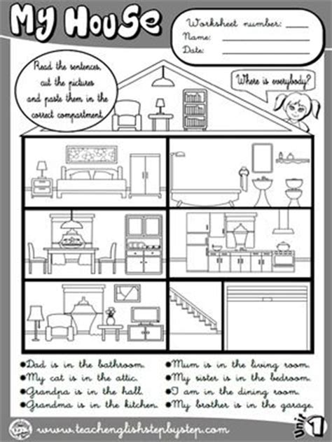 house worksheet  bw version funtastic english