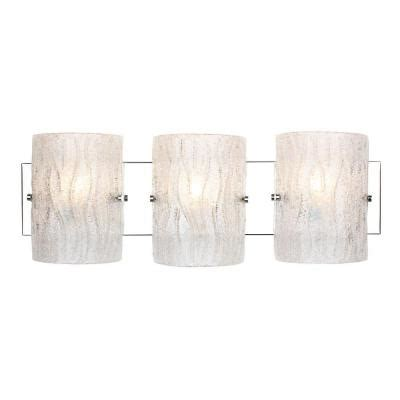 alternating current brilliance 3 light chrome bath vanity