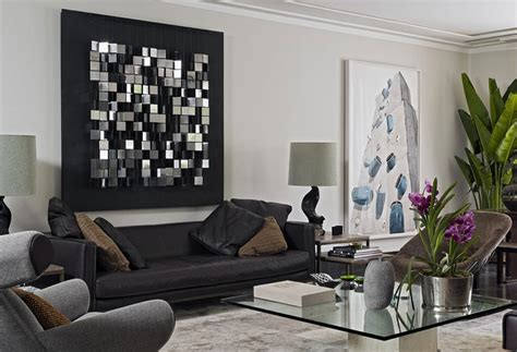 contemporary wall decorations  living room  metal
