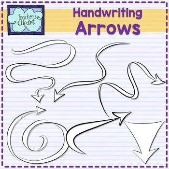 handwriting arrows  pointers clip art  images