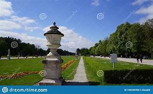 Schloss, Nymphenburg, Castle, Bavaria, Munich, Pond, Lake, Park, Editorial, Stock, Photo