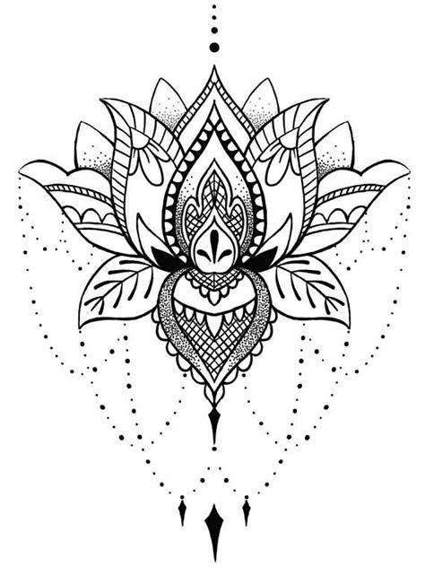 Lotus Mandala Temporary Tattoo Boho Chic Gifts for Her Art
