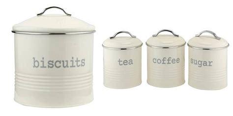 black kitchen canister set vintage enamel tea coffee sugar biscuits