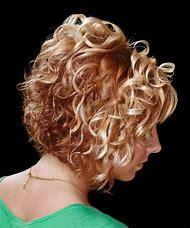Short Layered Bob Hairstyle Curly Hair