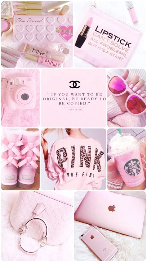 Aesthetic Wallpaper Girly by Pink Collage Wallpaper Made By Me Give Credit If
