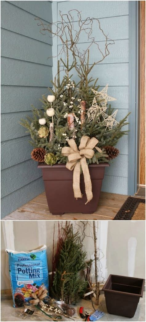 rustic diy christmas decor ideas  front porch