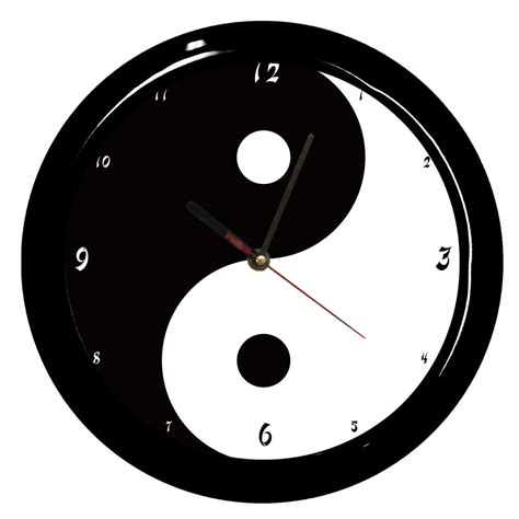 pendule de bureau horloge decoration pendule design yin et yang by cbk