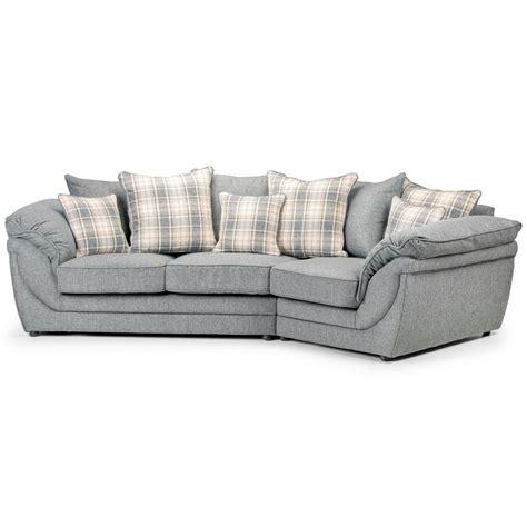 canapé coussin canapé angle droit en tissu gris avec coussins chloé dya shopping fr
