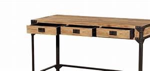 Bureau Bois Metal : bureau metal et bois etagere pour bureau lepolyglotte ~ Teatrodelosmanantiales.com Idées de Décoration
