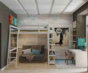 Hochbett Mit Sofa : kinderzimmer mit verspieltem design 4 einrichtungsideen ~ Watch28wear.com Haus und Dekorationen