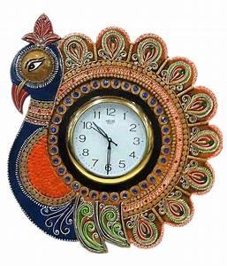 Unique, Indian, Crafts, Circular, Analog, Wall, Clock, 35, X, 35, Cms, Buy, Unique, Indian, Crafts