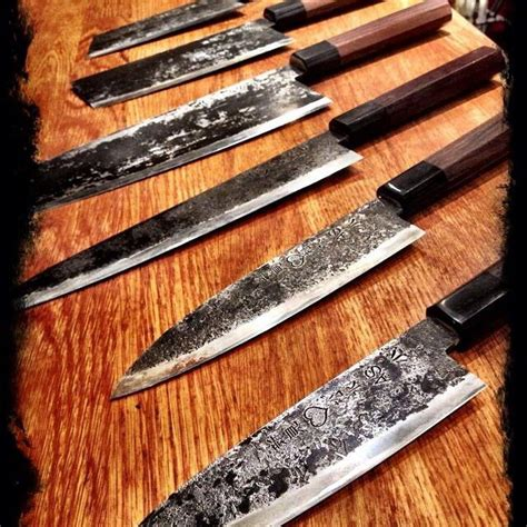 custom japanese kitchen knives takeda knives cuchillos pinterest knives custom knives and damascus