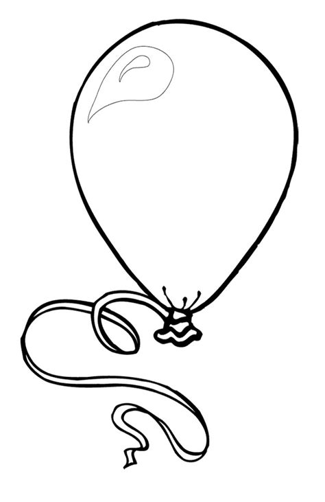 balloon coloring pages bestofcoloring