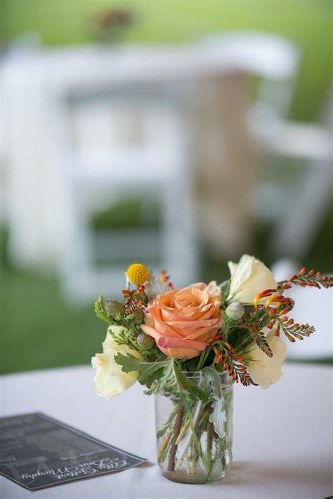 rustic yellow  orange summer wedding blush floral design