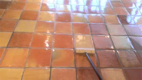 sealing saltillo tile youtube