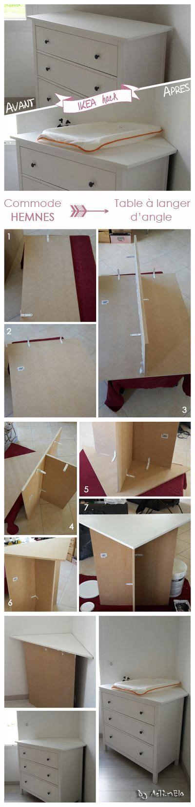 customiser un bureau une idée simple pour faire une table à langer d 39 angle