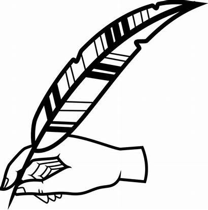 Pen Clipart Writing Clip Paper Quill Handwriting