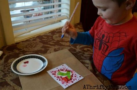 easy diy cards  kids polka dot heart card kidscrafts