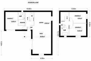 plan maison 90m2 2 etages With plan maison a etage 2 chambres