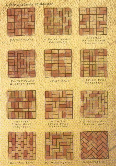 brick patterns for patios brick patterns i saw this and thought of corks to make awesome bulletin boards herringbone my