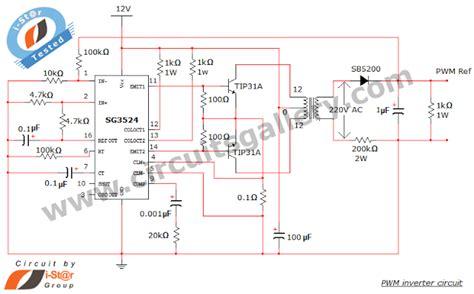 simple pwm inverter circuit diagram  pwm chip sg circuits gallery