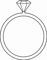 Coloring Ring Diamond Pages Wedding Shape sketch template
