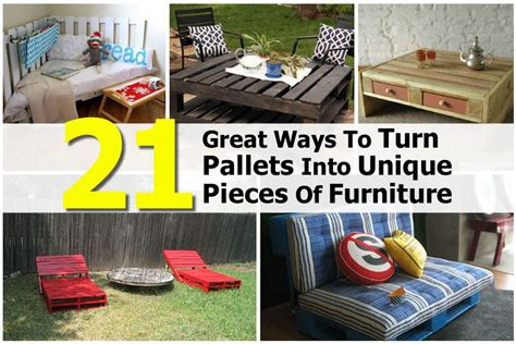 21 Great Ways To Turn Pallets Into Unique Pieces Of Furniture