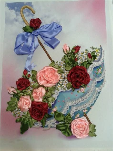 pin  ploynapat sereewattanah  ribbon embroidery