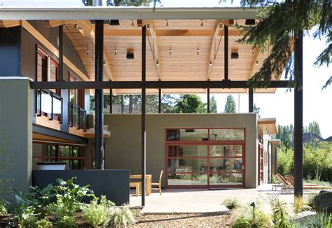 home design modern industrial suburban house in seattle with curved