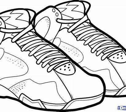 Coloring Shoes Converse Shoe Pages Printable Getcolorings
