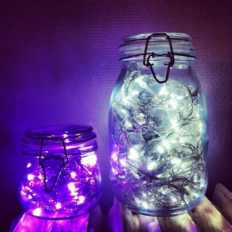 battery powered lights inside jars jar crafts