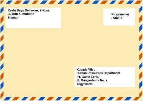Tulisan Map Lamaran Kerja by Ayoo Kirimkan Lamaran Pekerjaan Kalian Kantor Pos