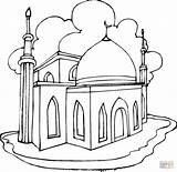 Coloring Mosque Pages Drawing Printable Main Colorings Games Crafts sketch template