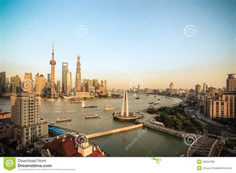 Beautiful Shanghai At Dusk Royalty Free Stock Images
