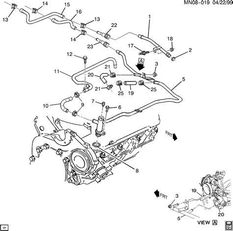 2002 Pontiac 3 4 Engine Cooling Diagram by Pontiac Grand Am N Hoses Pipes Heater La1 3 4e Gt Epc