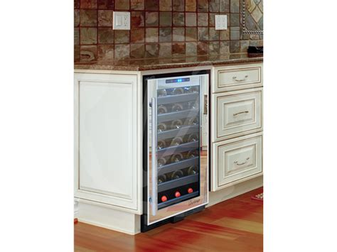 installing wine cooler in existing cabinet built in wine cooler custom dry bar with built in wine