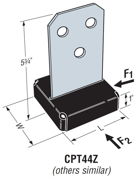 Simpson Strong Tie CPT88Z 8x8 Concealed Post Base with ...