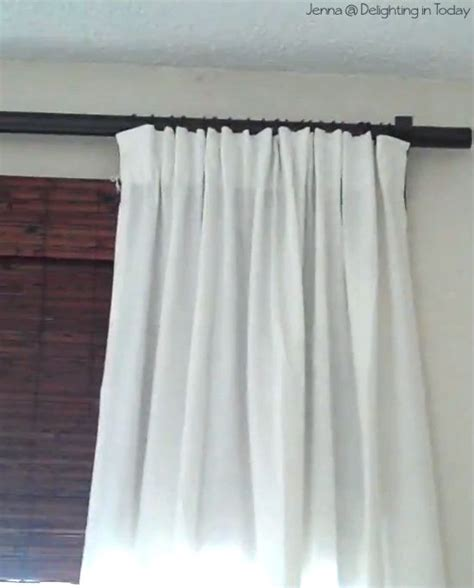tutorial different ways to hang curtains for the home